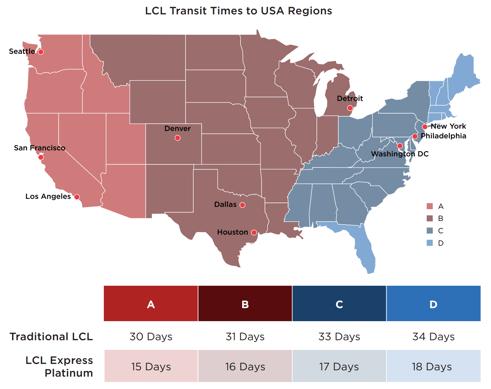 LCL Express Platinum- map